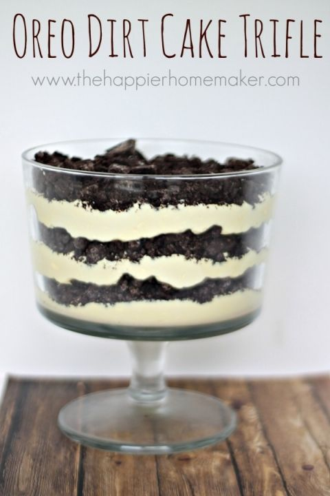 oreo dirt cake trifle recipe