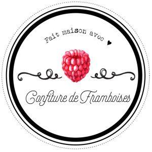 Etiquettes pour confitures de framboises maison par Lily Ciboulette www.lilyciboulette.com