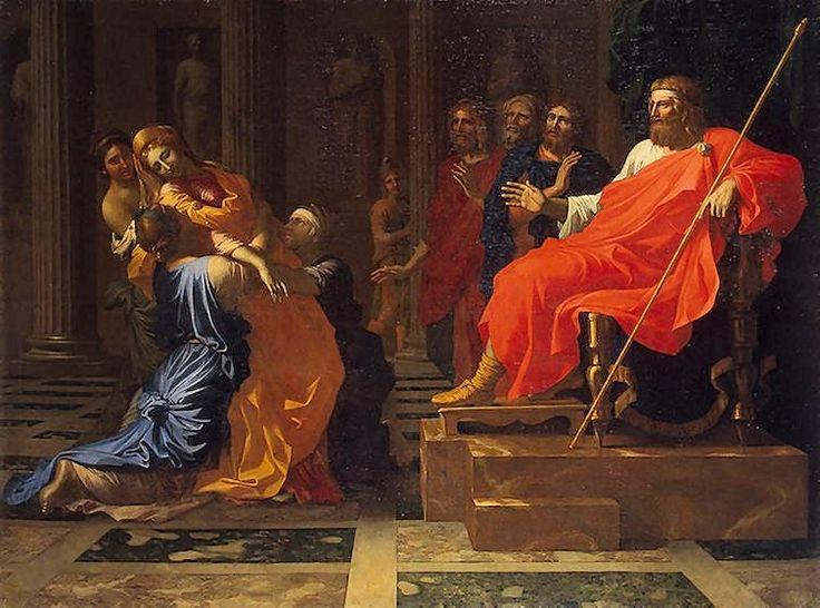 Nicolas POUSSIN, Esther devant Assuérus, musée de l'Hermitage
