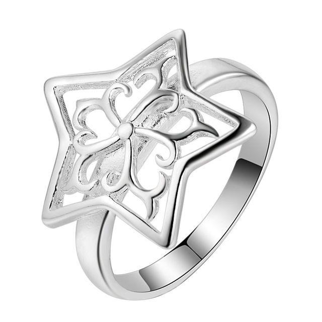 925 jóias de prata anéis de noivado bonito para a menina, anéis baratos para as mulheres, ajustes do anel de noivado AR218