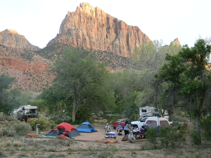 Zion Watchman Campground Amazing Backdrop