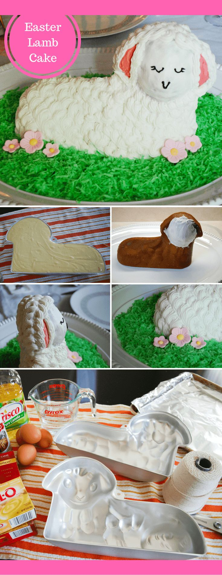 17 best ideas about lamb cake marshmallow cake how to make and decorate a traditional 3d standup easter lamb cake what a cute