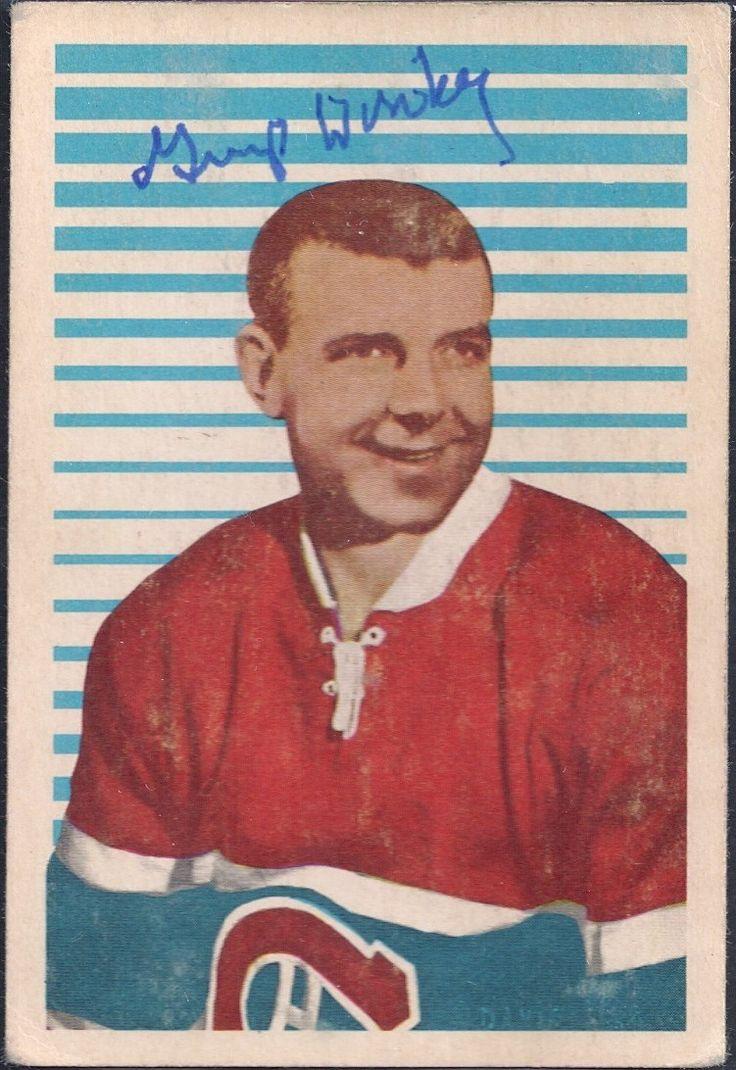 """1963-64 Parkhurst Lorne """"Gump"""" Worsley autograph"""
