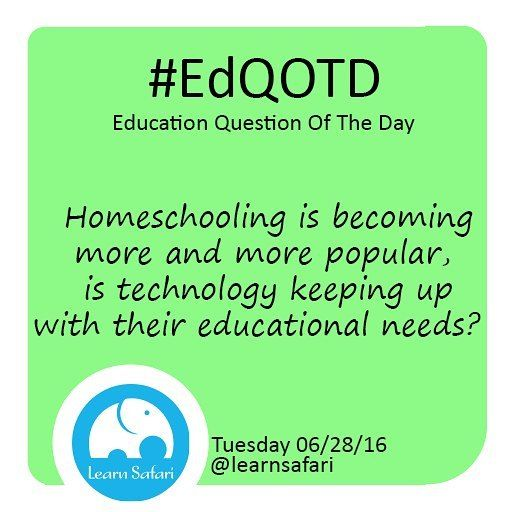 Is #edtech keeping up with what homeschoolers need? Do parents have access to all the resources their kids need?  #EdQOTD #learnspanish #homeschool #elearning #gamebasedlearning #education