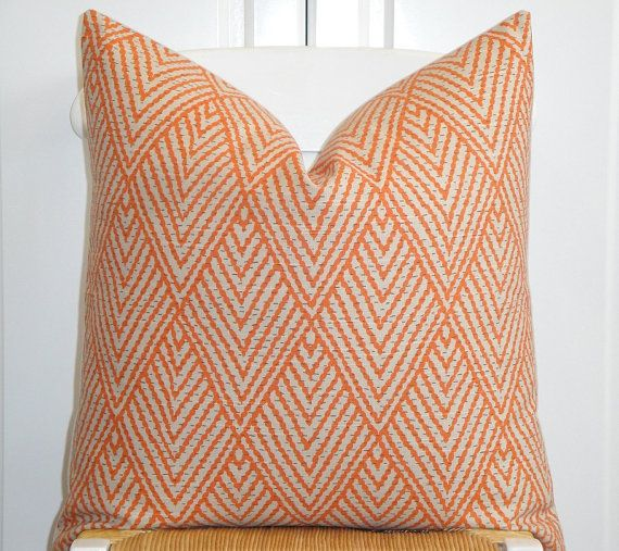 Decorative Pillow Cover   20 X 20   Accent Pillow   Throw Pillow   Orange