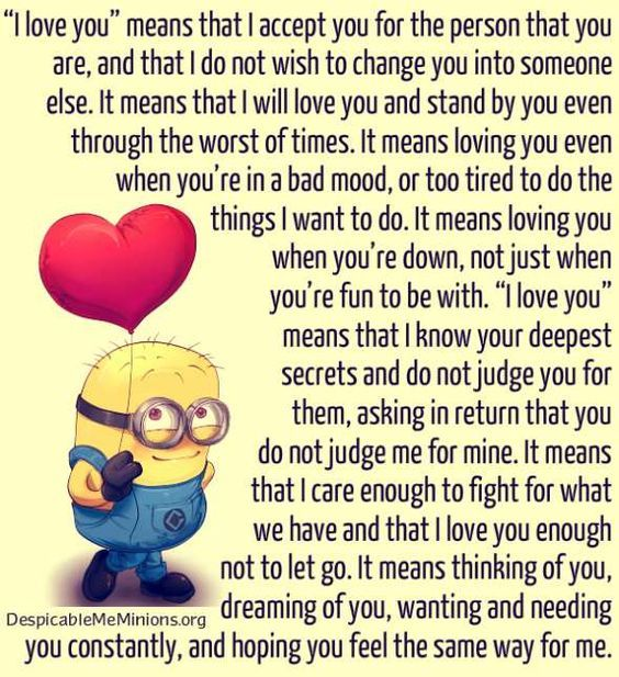 Top 25 Minion Love Quotes #Minions #Love Quotes