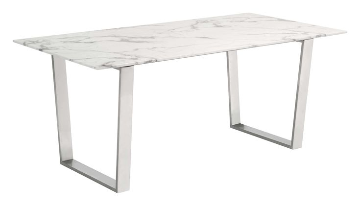Lowest price on Zuo Modern Atlas Stone & Stainless Steel Dining Table  100707. Shop today!