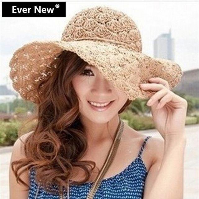 2015 диапазон новый женские крючком полый купол летние шляпы для женщин сетка соломенная шляпка складная вс Hat мода пляж шляпа