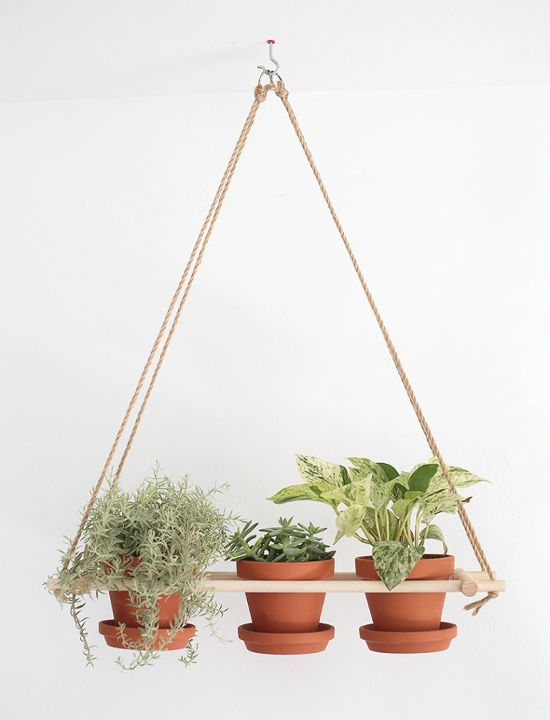 Un très joli tuto DIY pour fabriquer votre propre suspension pour plantes !