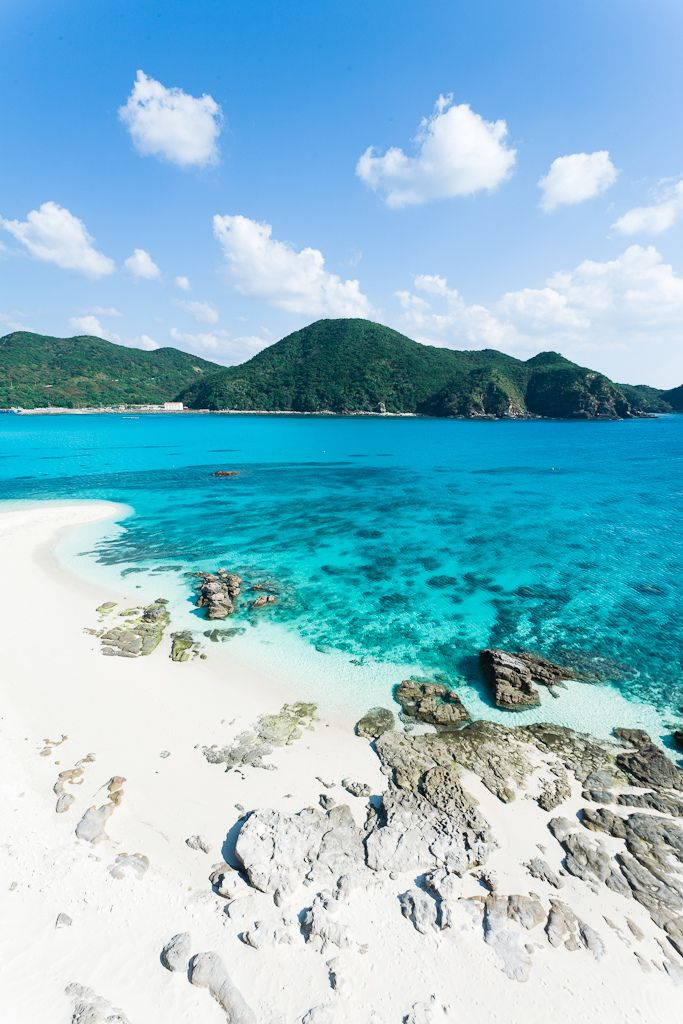 Tokashiki Island, Tokashiki-son, Okinawa Prefecture_ Japan. Tokashiki Island belongs to the Kerama Island group which is known for some of the world's clearest waters with 50-60m visibility.
