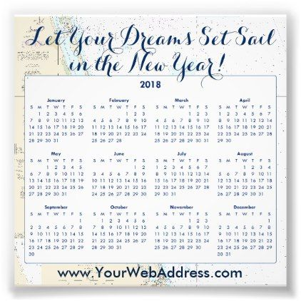 2018 Calendar Nautical Sailing Quote Promotional Photo Print - white gifts elegant diy gift ideas