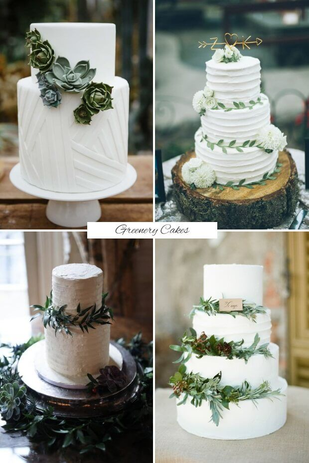 Find out what delicious dessert trends we'll be sinking our teeth into this year with today's guide to the top wedding cake trends for 2017! Greenery Greenery Cake Toppers and Decoration.