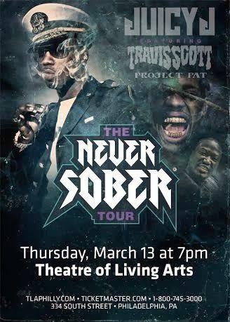 March 13th - Juicy J at TLA ft Travis Scott & Project Pat - #Ve...