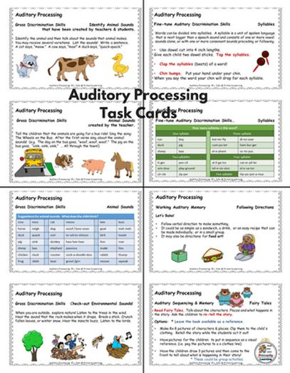 30 auditory processing task cards at your fingertips!