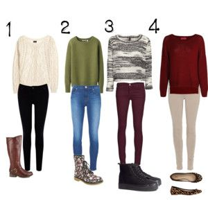 4 Simple Fall outfits for back to school | Fashion | Pinterest | Fall outfits Back to and Fall