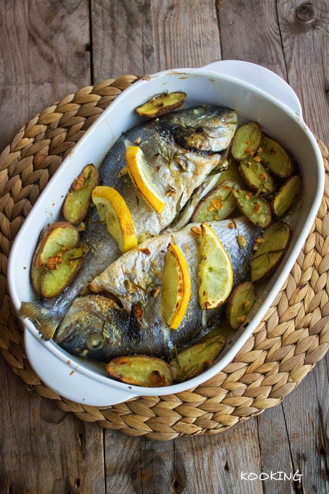 KOOKING: Doradas al horno con aromáticas