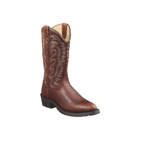 Men's Dan Post Boots Work Cheyenne 13 ($98) ❤ liked on Polyvore featuring men's fashion, men's shoes, brown, casual, slip-on shoes, mens slipon shoes, mens brown shoes, mens brown slip on shoes, mens leather slip on shoes and mens leather shoes