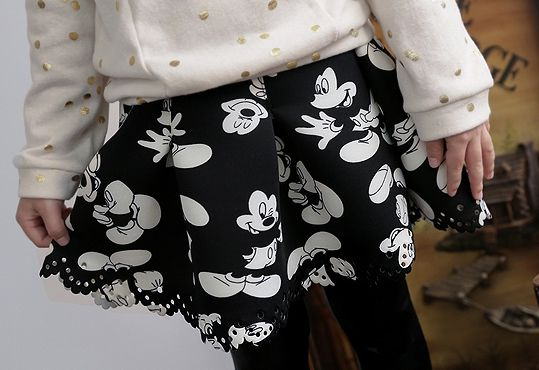 Korea children's No.1 Shopping Mall. EASY & LOVELY STYLE [COOKIE HOUSE] Neo Mouse Skirt / Size : 5-13 / Price : 22.64 USD #cute #koreakids #kids #kidsfashion #adorable #COOKIEHOUSE #OOTD #skirt #minimouse