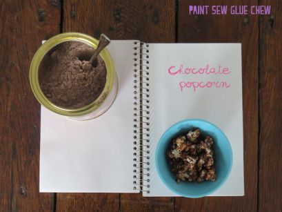 Customise simple popcorn with these 4 easy to make recipes. 4 awesome recipes - Chocolate Flavour // Paint Sew Glue Chew