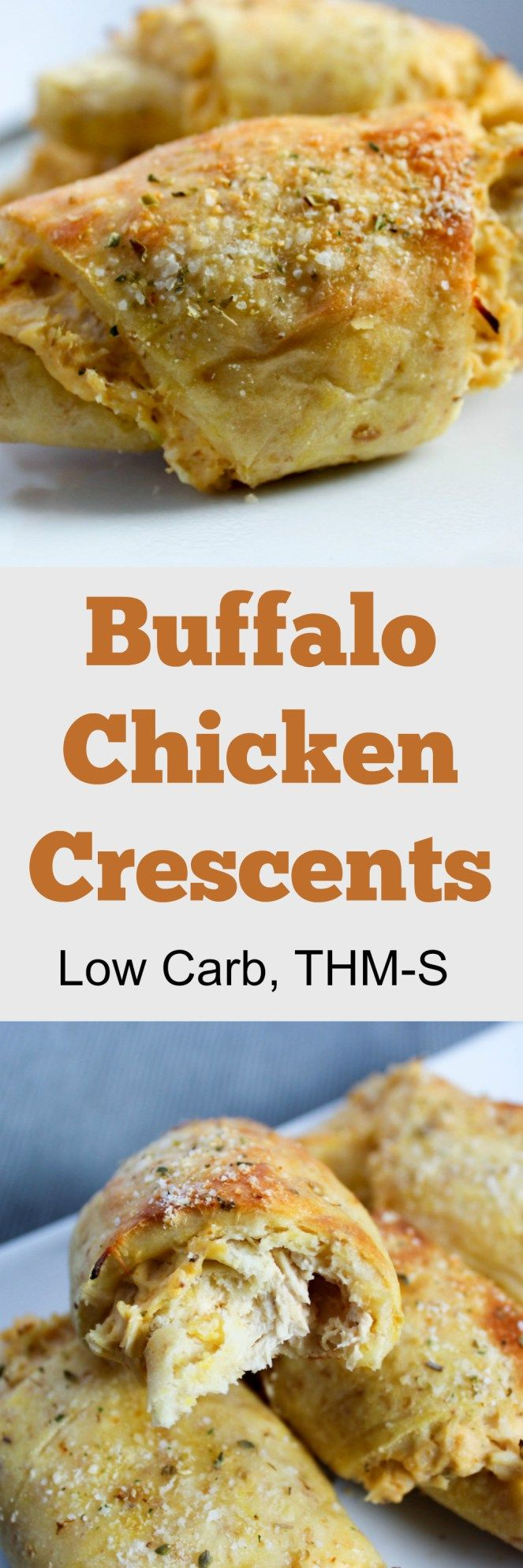 Buffalo Chicken Crescents (Low Carb, THM-S)