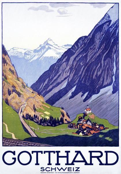 Emil Cardinaux - Gotthard / Schweiz - Art Print