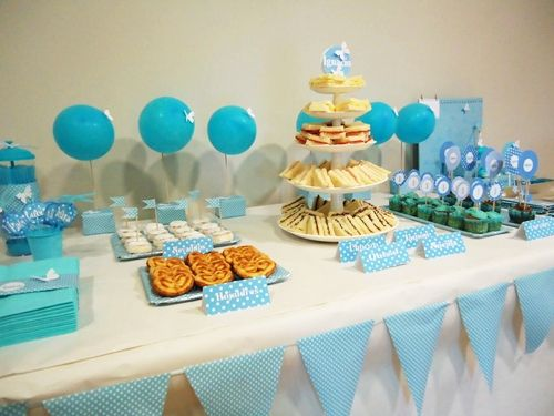 Primer Cumple De Ignacio En Azul Party Ideas Birthdays Baby