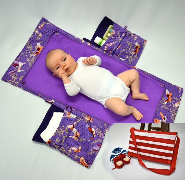 Modimade Baby Bag (Butterfly Garden) - A Nappy Bag & Change Mat folded into one! by MODIMADE on Etsy