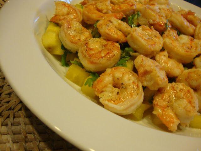 As Minhas Receitas: Camarão salteado em Azeite de Baunilha com Chutney...