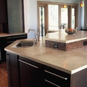 concrete countertop. Like this but still love granite More