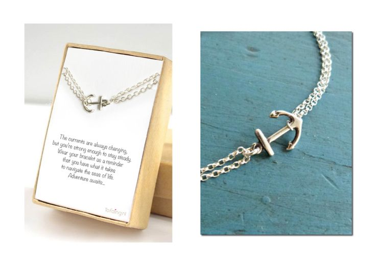 Armband 'Anchor silver' incl cadeau verpakking en eigen tekst naar wens € 12,90 #cadeau #vriendschap #bestfriend