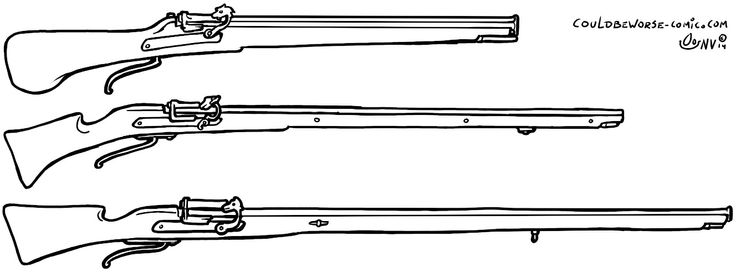 Arquebuse, Caliver and Musket, Matchlock weaponry. Couldbeworse-comic.com