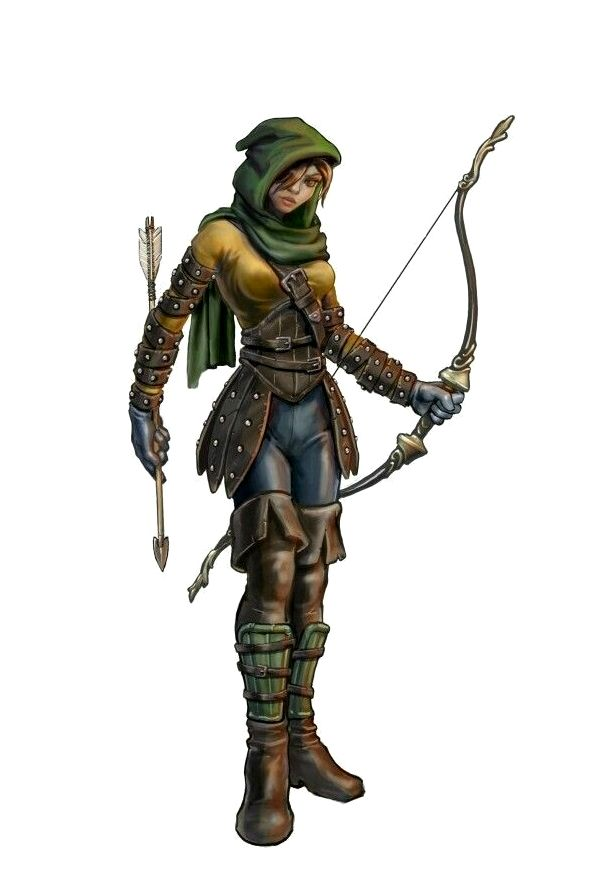 Female Human Ranger Archer - Pathfinder PFRPG DND D&D d20 fantasy | Pathfinder d&d dnd 3.5 5th ...