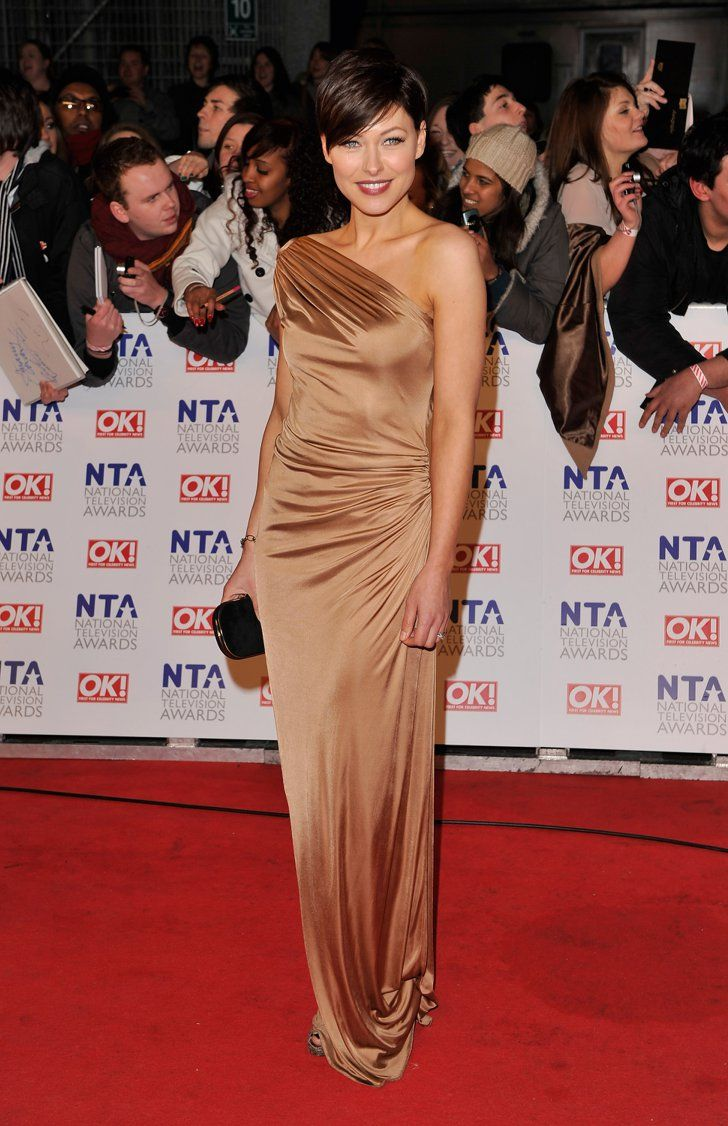 Pin for Later: No Wonder Big Brother's Emma Willis Is the Celeb Mum We All Want to Look Like Emma Willis A slinky bronze one-shoulder gown was a glamorous choice for the National Television Awards in 2011.