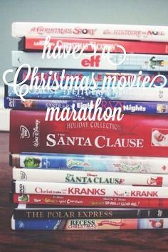 Christmas Movie Marathon - wrap gifts & drink hot chocolate!