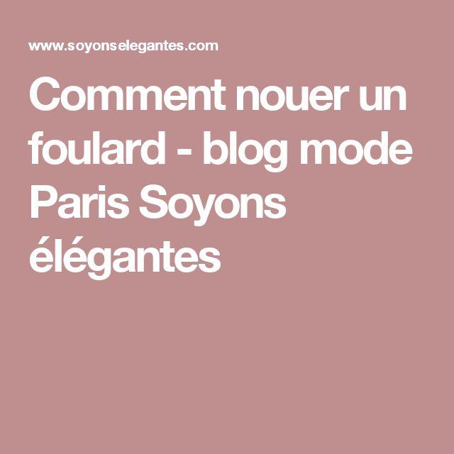 ... Foulard sur Pinterest  Écharpes, Porter Une Écharpe et Écharpes En