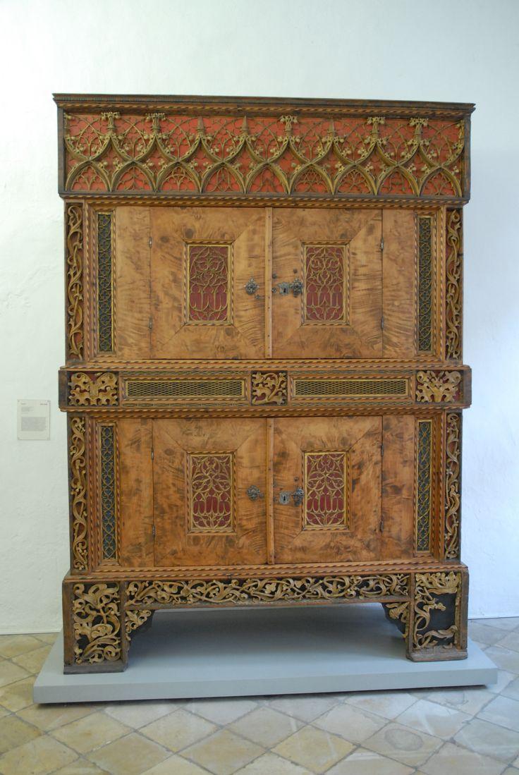 Ancient gothic furniture - Gotischer Schrank 15 Jahrhundert Wahrscheinlich Aus Der Sakristei Der Stadtpfarrkirche In Sterzing S Dtirol Konstruktion