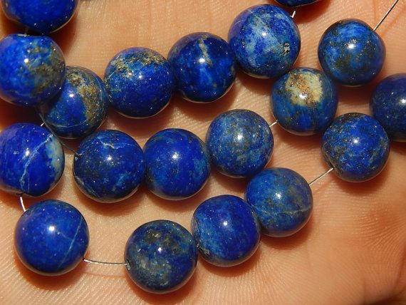 Natural Lapis Lazuli Round beads From Afghanistan by manzoorgems