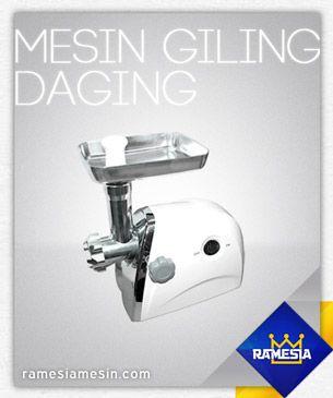 Meat Grinder MGD-G31 Rp 990.000 untuk info spesifikasi produk silahkan kunjungi website kami http://ramesiamesin.com/mesin-giling-daging/