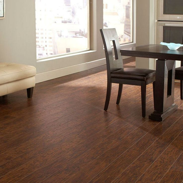 Hampton bay enderbury hickory 8 mm thick x 5 3 8 in wide for Consumer reports laminate flooring