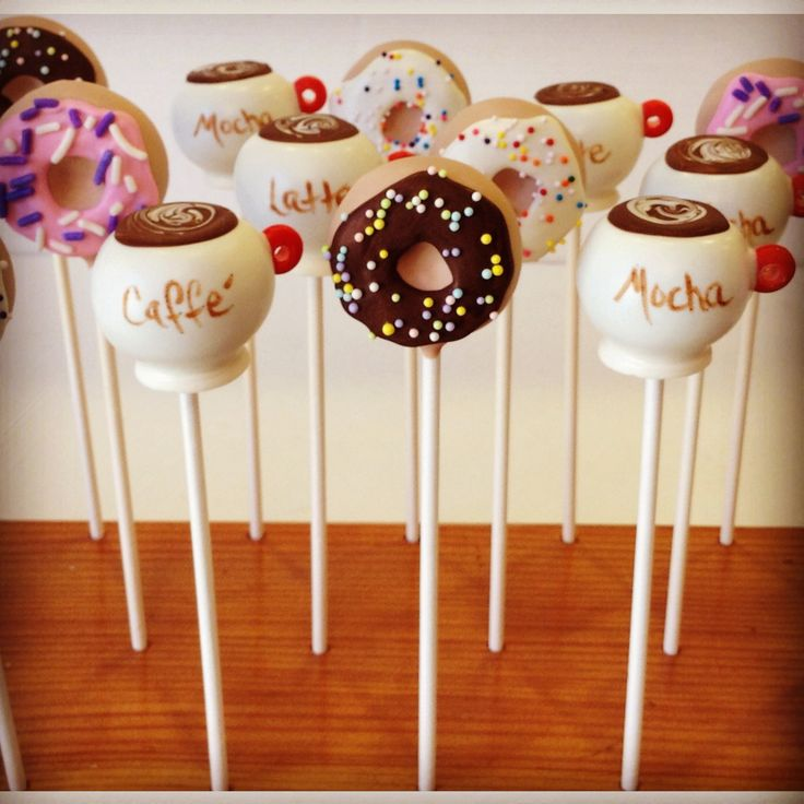 Coffee and Doughnut Cake Pops