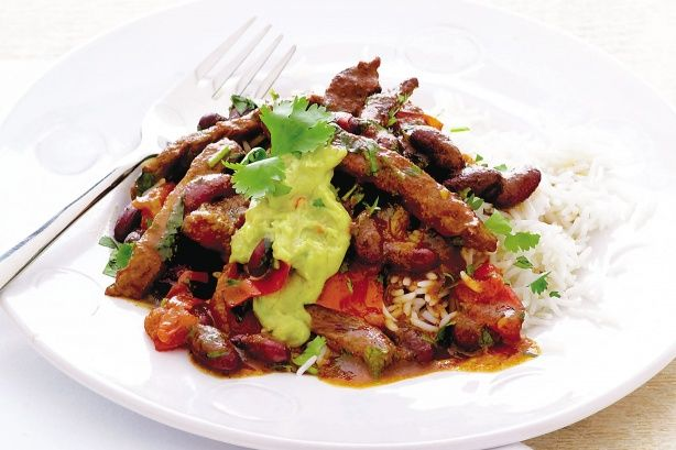Steak chilli con carne-absolutely fabulous! used stir fry steak and one 700ml jar of passata (recipe was doubled)
