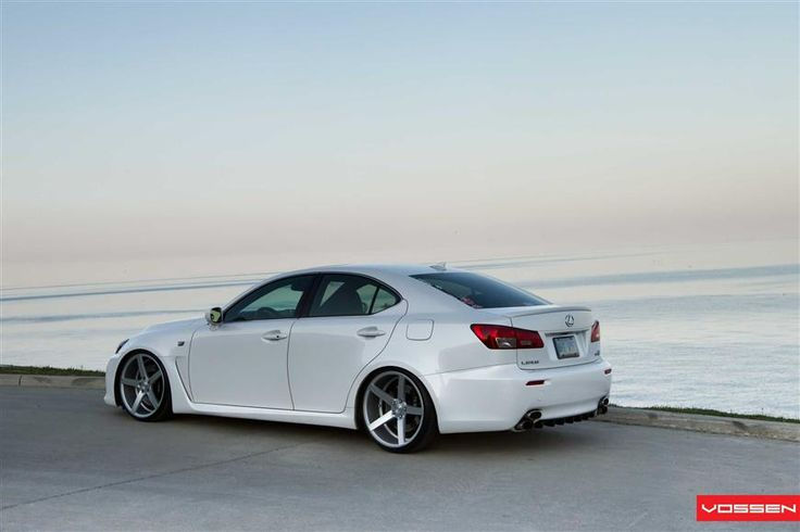 Lexus ISF with Vossen wheels. In no other color but white.. i'm in love.
