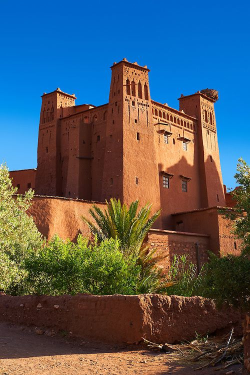 Adobe buildings of the Berber Ksar or fortified village of Ait Benhaddou, Sous-Massa-Dra Morocco | Photos Gallery