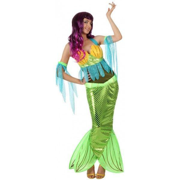 Disfraz de Sirenita. Sexy y colorido disfraz de Sirena para mujeres divertidas.