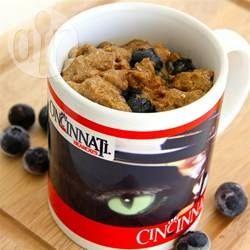 Photo de recette : Muffin aux bleuets dans une tasse
