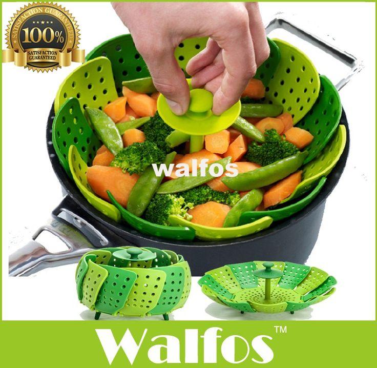 Walfos Cooking Microwave Silicone Food Steamer, Vegetable Steamer Basket BPA Free //Price: $15.66 & FREE Shipping //     #freeshipping
