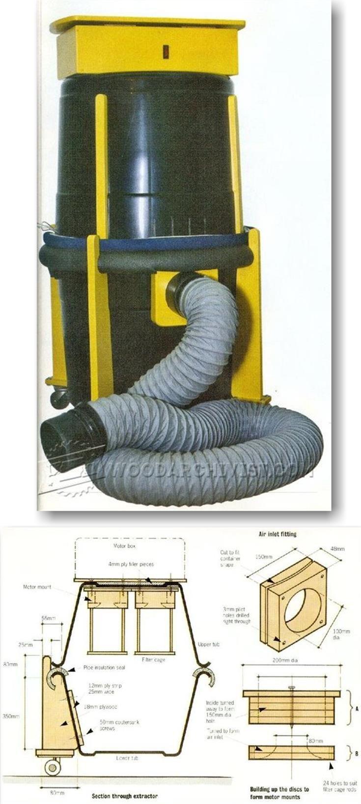 DIY Dust Extractor - Dust Collection Tips, Jigs and Fixtures | WoodArchivist.com