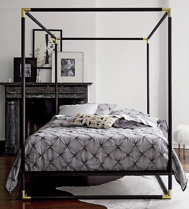 Modern Metal Canopy Bed Excellent Bedroom Small Master