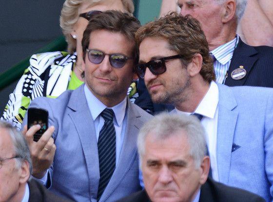 Bradley Cooper and Gerard Butler Snap a Selfie at Wimbledon