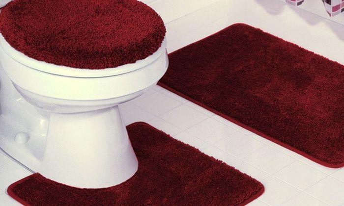 Rot Bad Teppich Set Beeindruckende Manificent Badezimmermobel